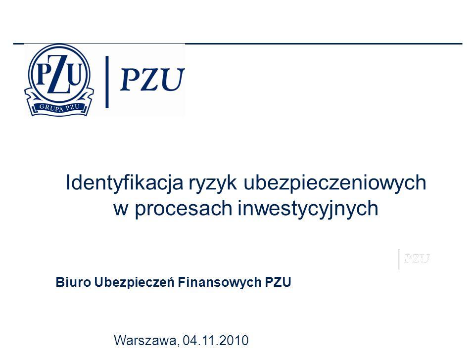 Identyfikacja ryzyk ubezpieczeniowych w procesach inwestycyjnych