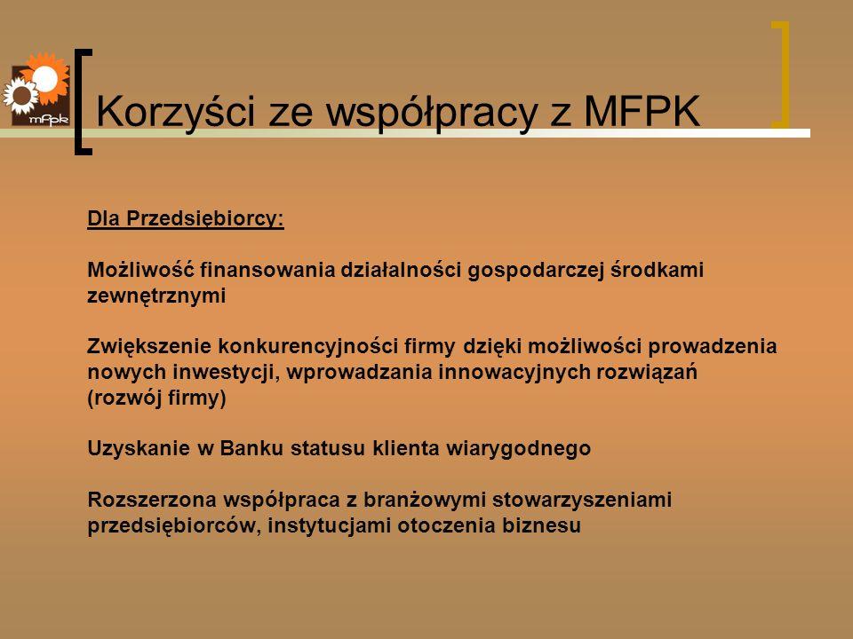 Korzyści ze współpracy z MFPK