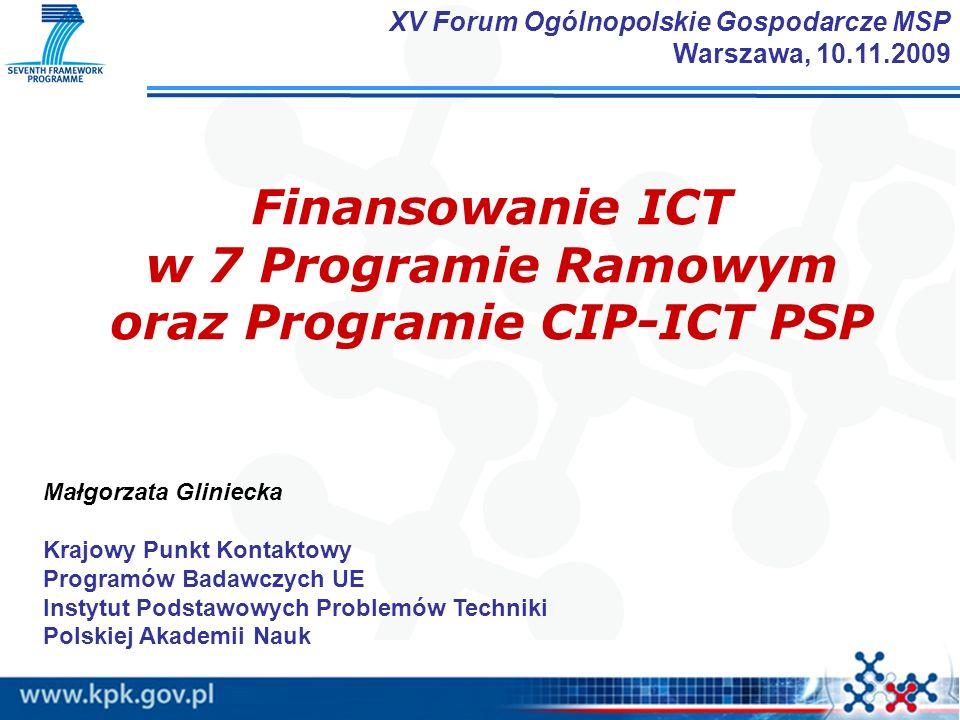 oraz Programie CIP-ICT PSP