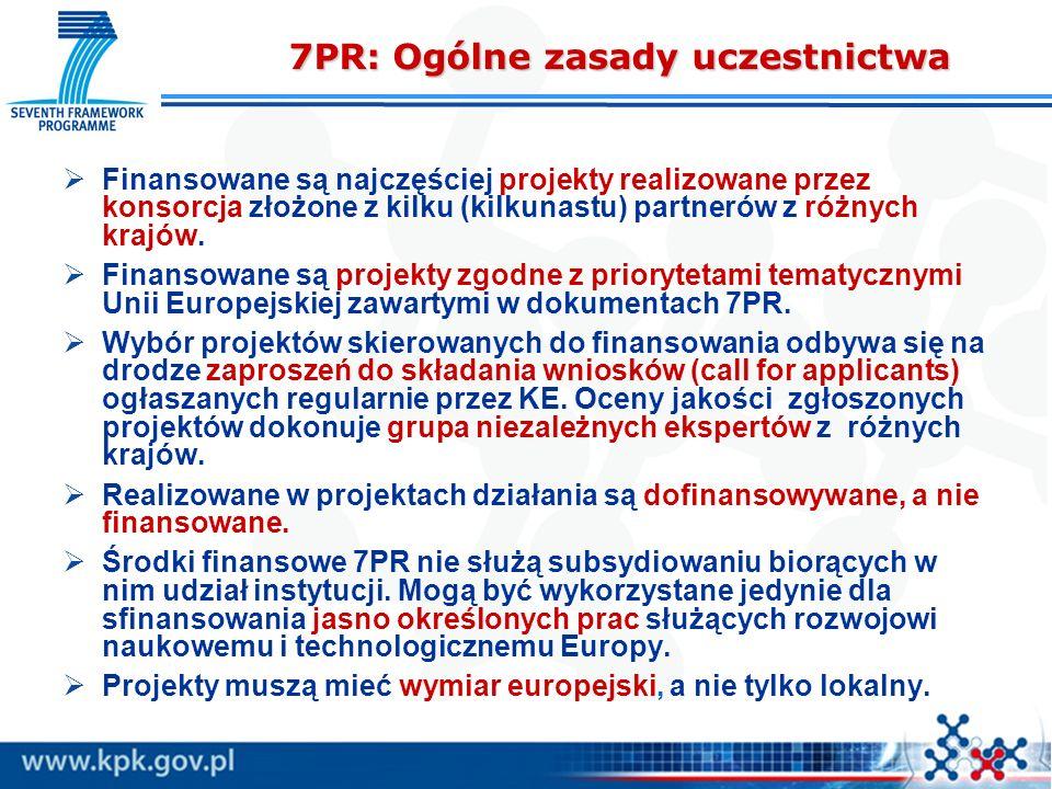 7PR: Ogólne zasady uczestnictwa