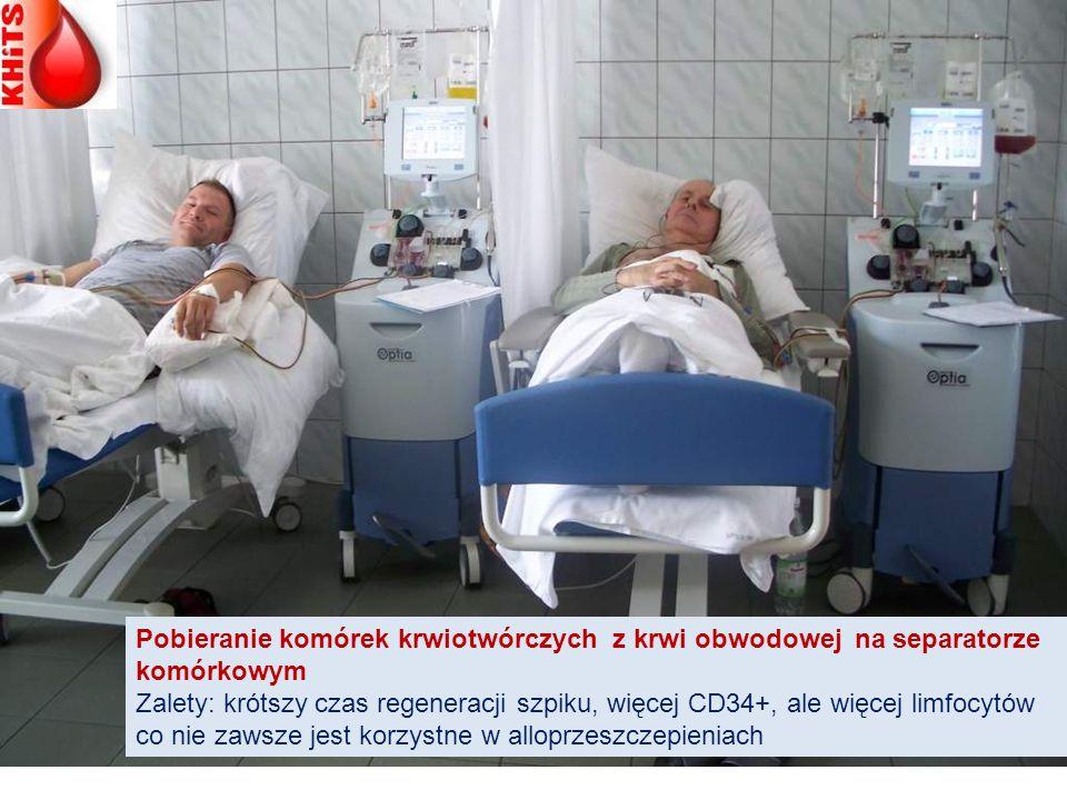 Pobieranie komórek krwiotwórczych z krwi obwodowej na separatorze komórkowym