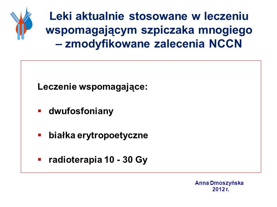 Leki aktualnie stosowane w leczeniu wspomagającym szpiczaka mnogiego – zmodyfikowane zalecenia NCCN