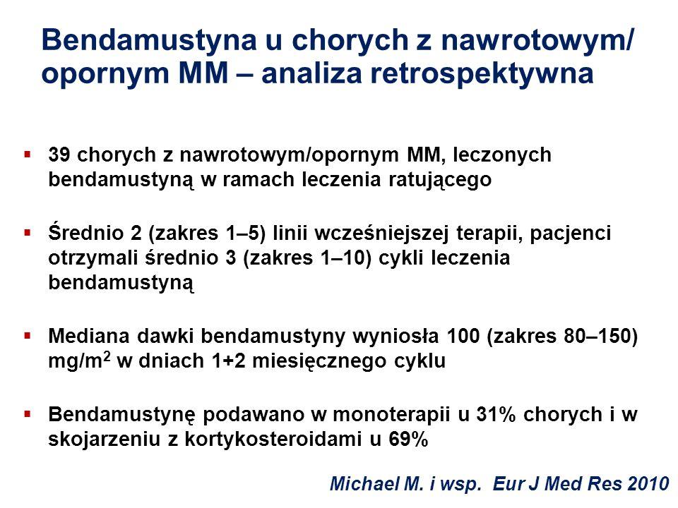 Bendamustyna u chorych z nawrotowym/ opornym MM – analiza retrospektywna
