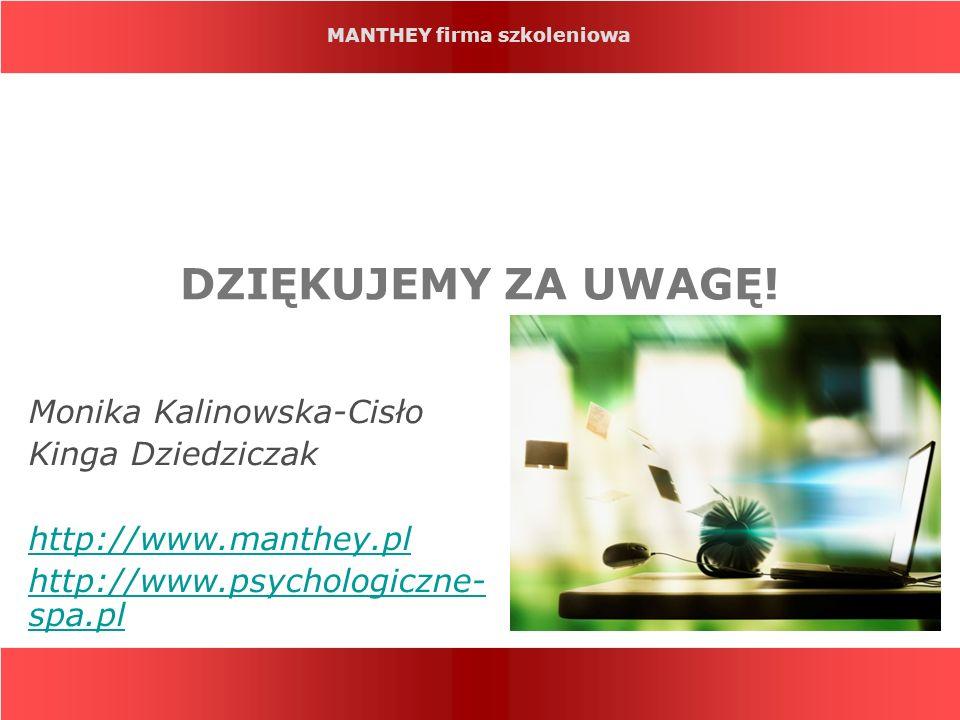 DZIĘKUJEMY ZA UWAGĘ! Monika Kalinowska-Cisło Kinga Dziedziczak