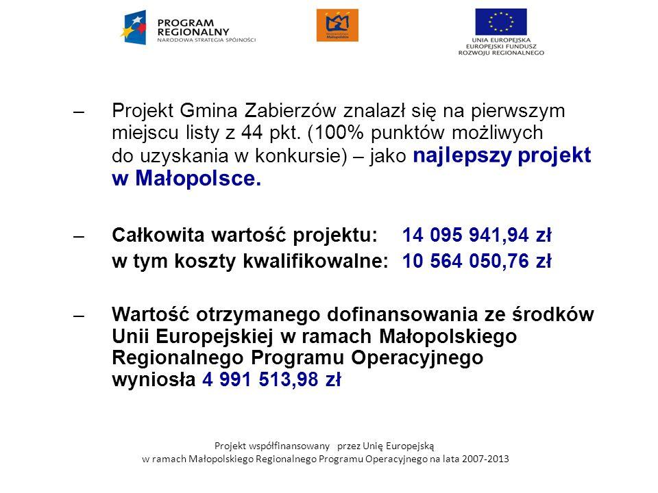 Całkowita wartość projektu: 14 095 941,94 zł