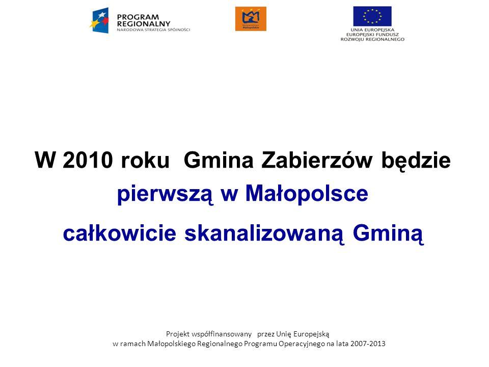 W 2010 roku Gmina Zabierzów będzie całkowicie skanalizowaną Gminą