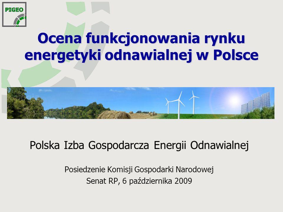 Ocena funkcjonowania rynku energetyki odnawialnej w Polsce