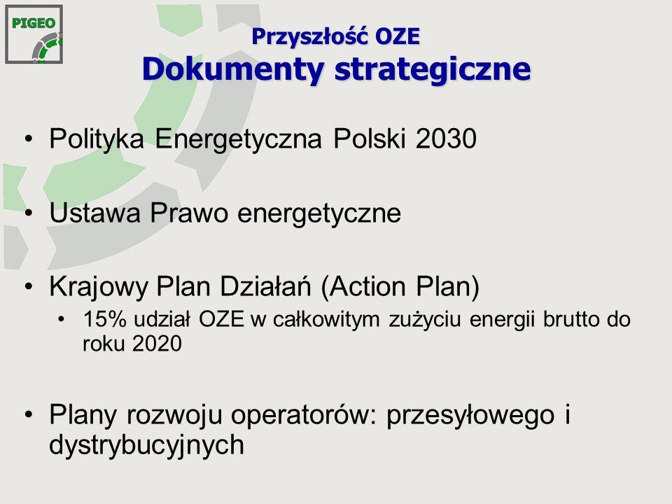 Przyszłość OZE Dokumenty strategiczne