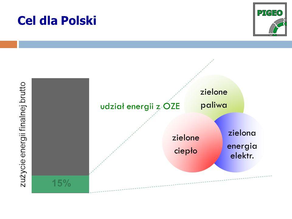 Cel dla Polski udział energii z OZE 15%