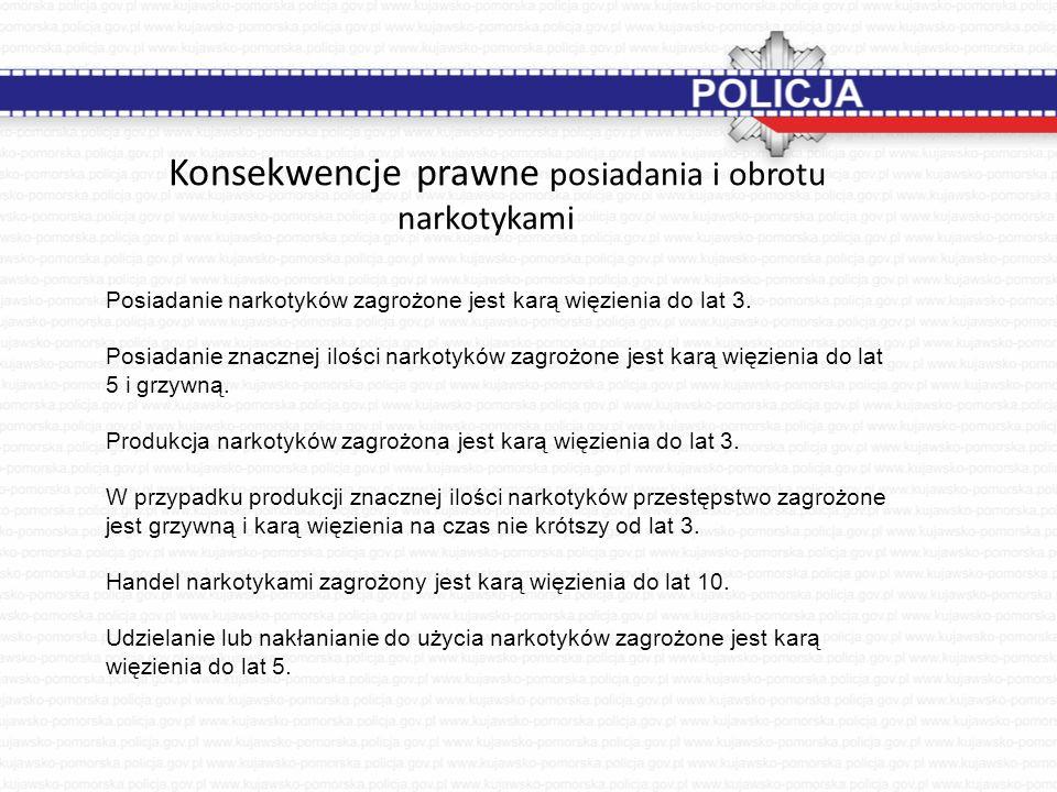 Konsekwencje prawne posiadania i obrotu narkotykami