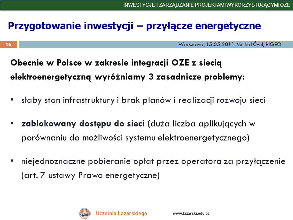 Przygotowanie inwestycji – przyłącze energetyczne