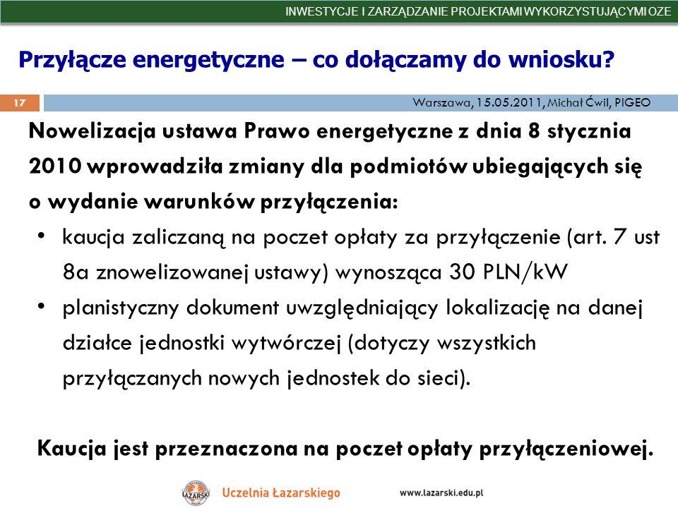 Przyłącze energetyczne – co dołączamy do wniosku