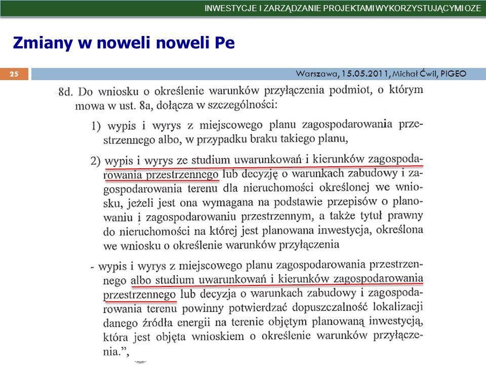 Zmiany w noweli noweli Pe