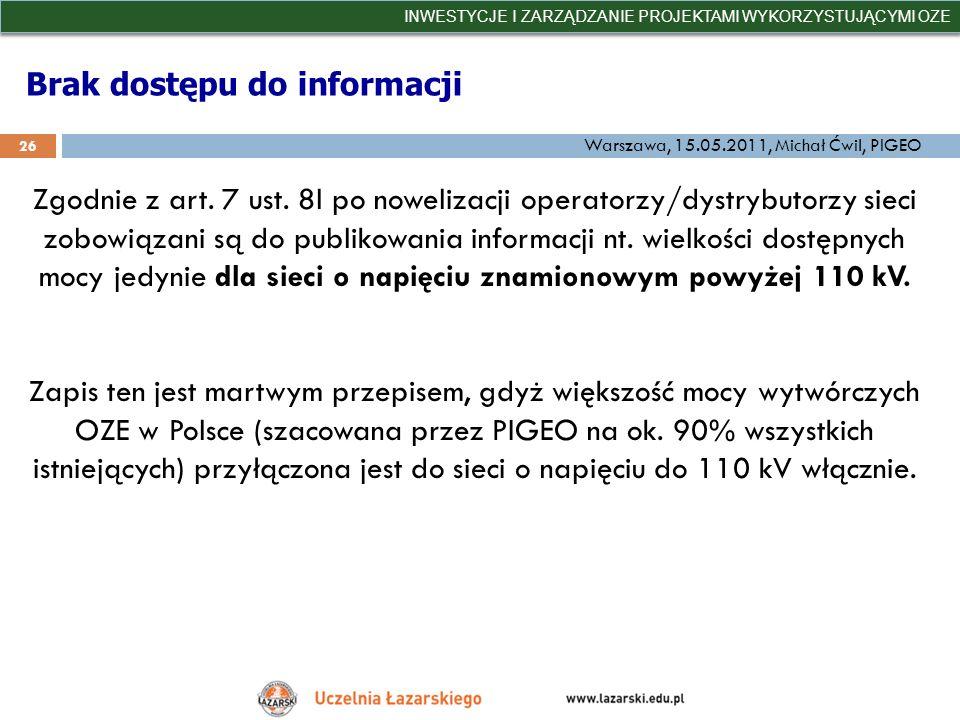 Brak dostępu do informacji