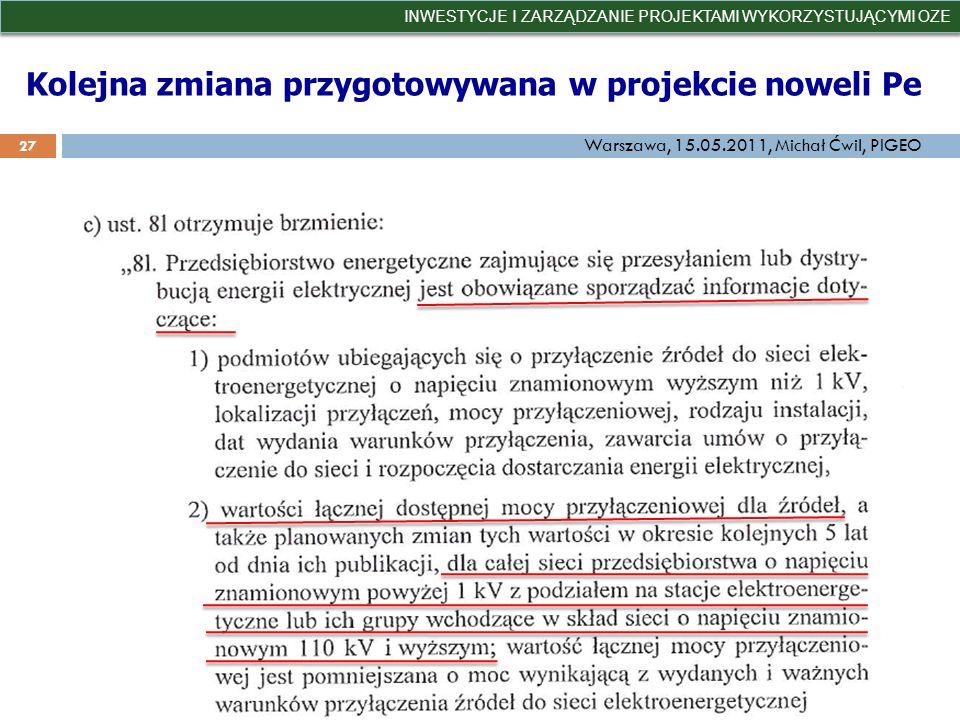 Kolejna zmiana przygotowywana w projekcie noweli Pe