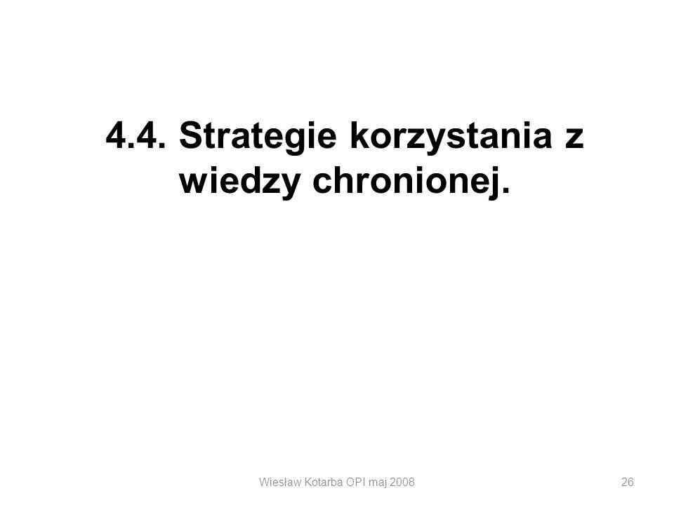 4.4. Strategie korzystania z wiedzy chronionej.