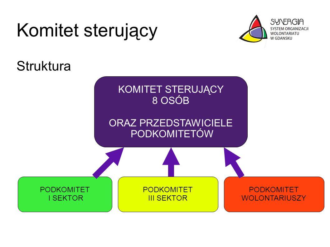Komitet sterujący Struktura KOMITET STERUJĄCY 8 OSÓB