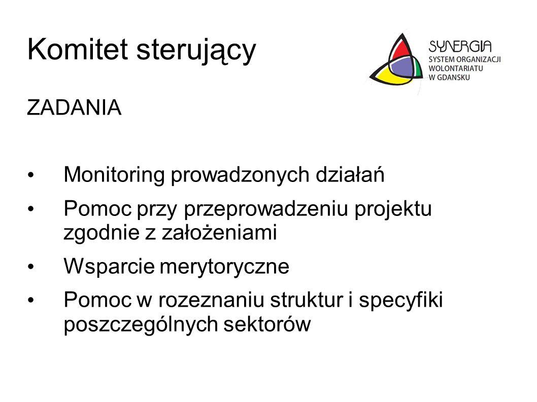 Komitet sterujący ZADANIA Monitoring prowadzonych działań