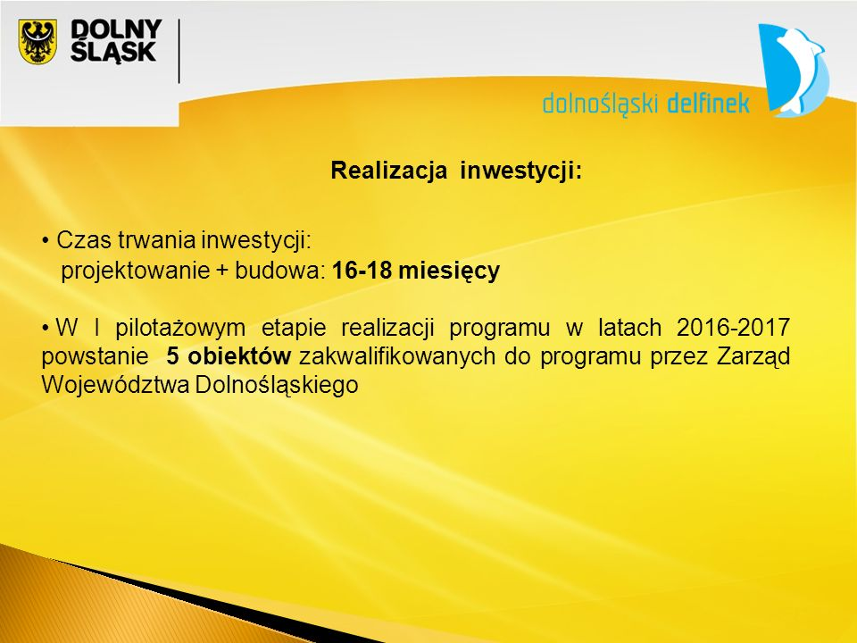 Realizacja inwestycji: