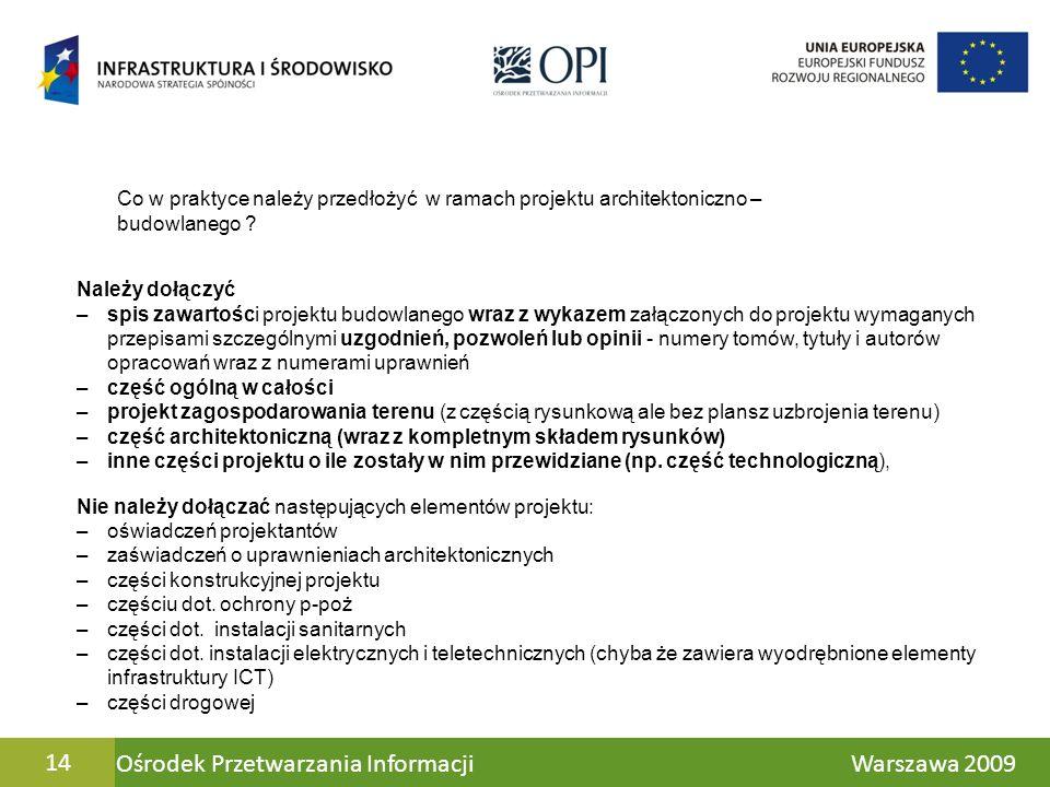 Ośrodek Przetwarzania Informacji Warszawa 2009