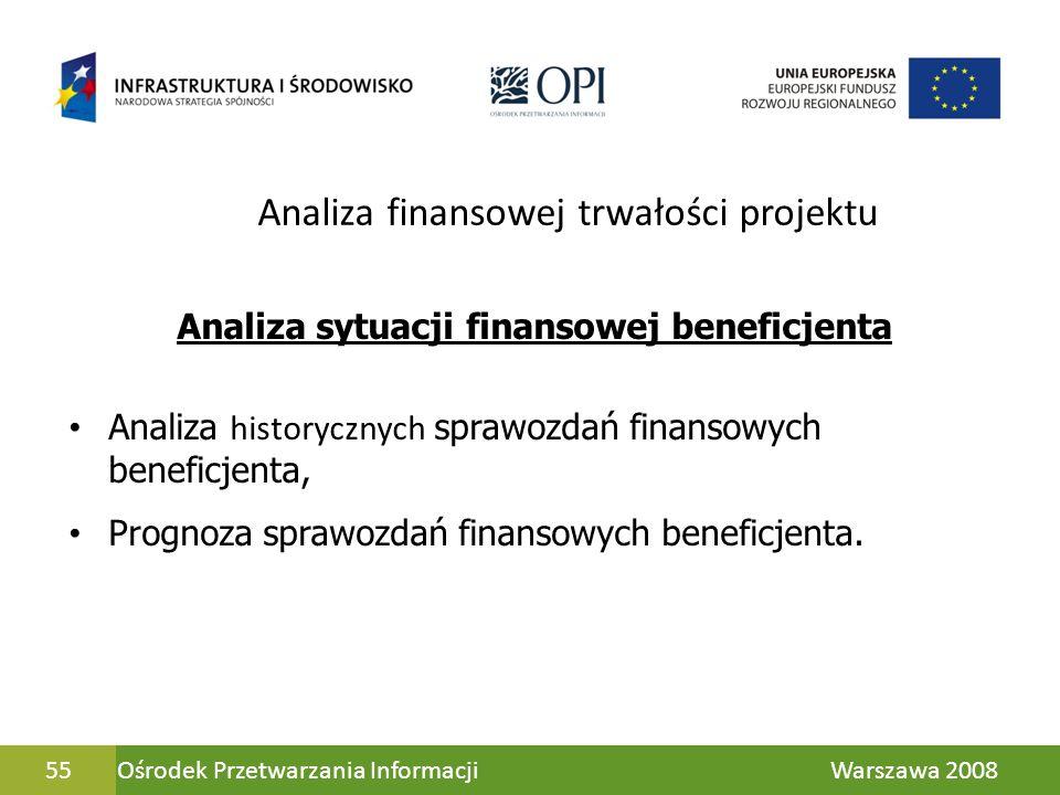 Analiza finansowej trwałości projektu