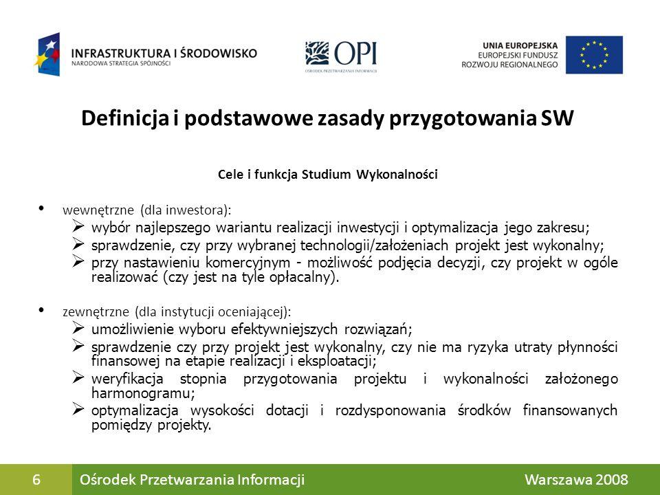 Definicja i podstawowe zasady przygotowania SW