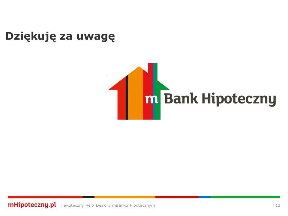 Dziękuję za uwagę | Skuteczny Help Desk w mBanku Hipotecznym