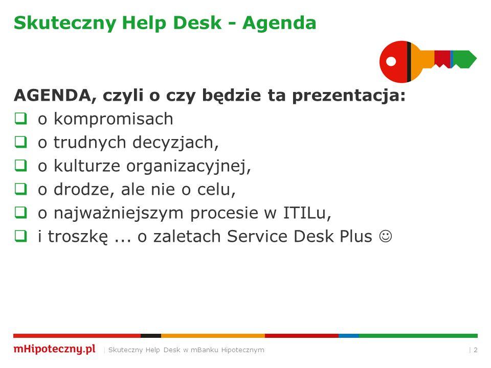 Skuteczny Help Desk - Agenda
