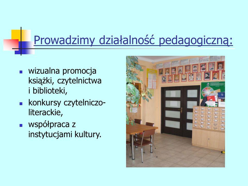 Prowadzimy działalność pedagogiczną: