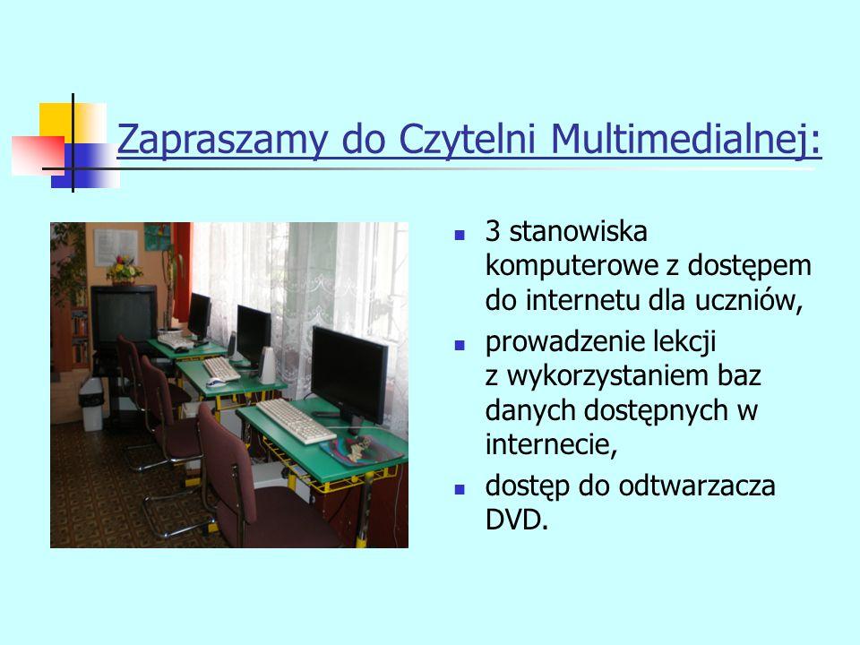 Zapraszamy do Czytelni Multimedialnej:
