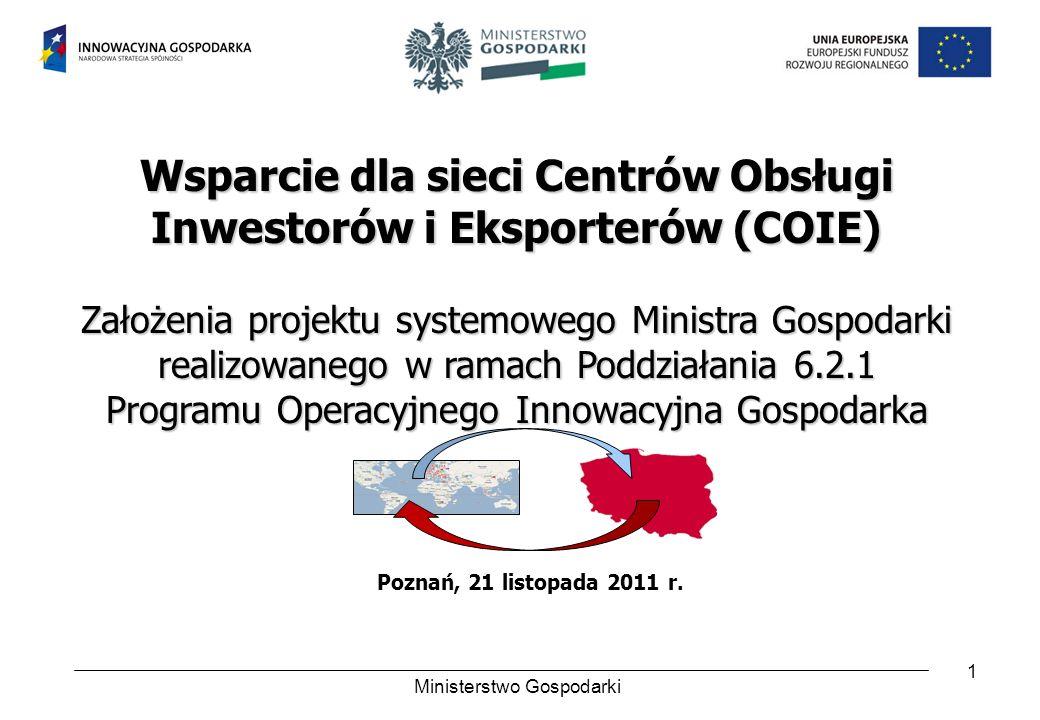 Wsparcie dla sieci Centrów Obsługi Inwestorów i Eksporterów (COIE)