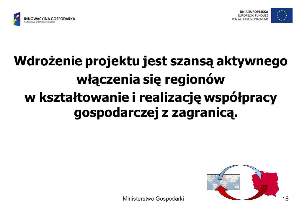 Wdrożenie projektu jest szansą aktywnego włączenia się regionów