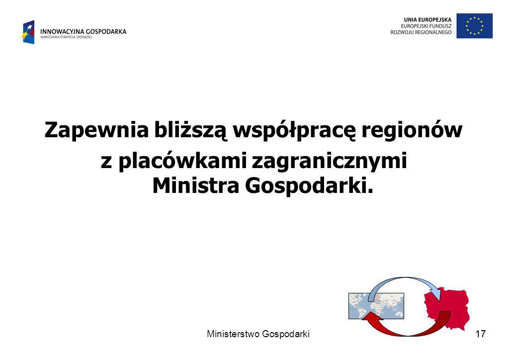 Zapewnia bliższą współpracę regionów