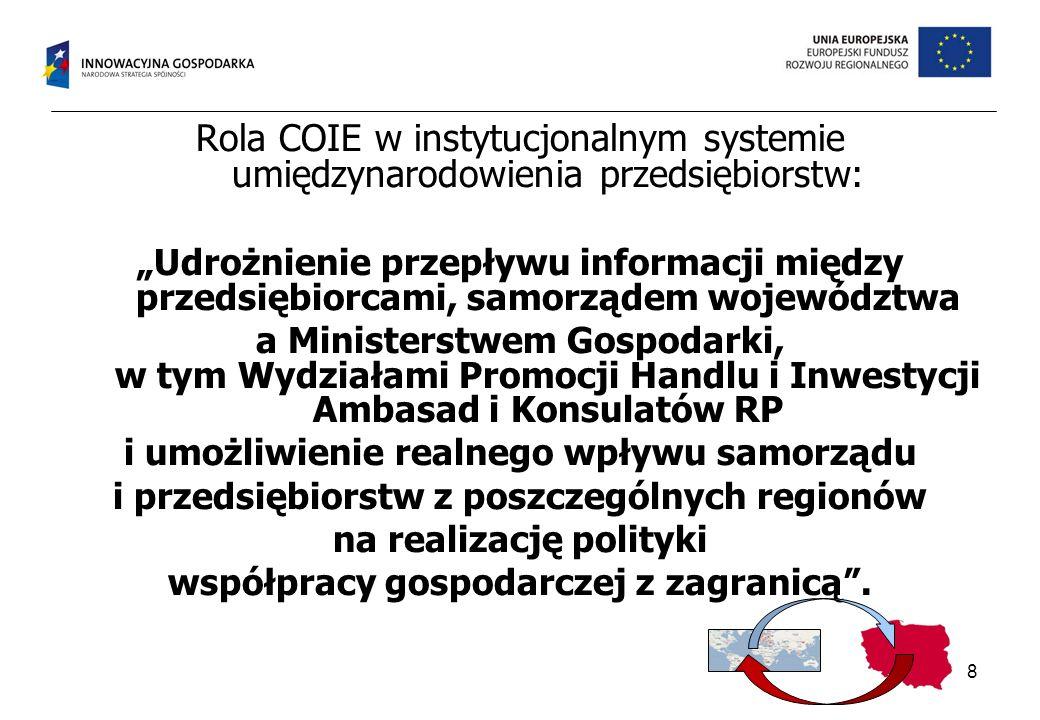 Rola COIE w instytucjonalnym systemie umiędzynarodowienia przedsiębiorstw: