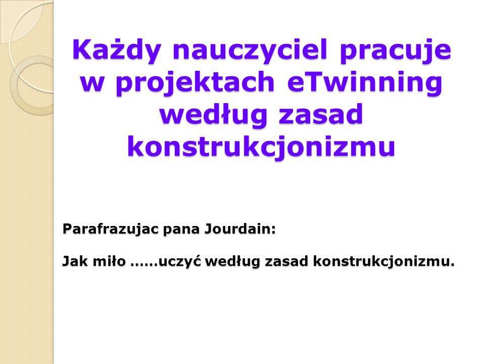 Każdy nauczyciel pracuje w projektach eTwinning według zasad konstrukcjonizmu