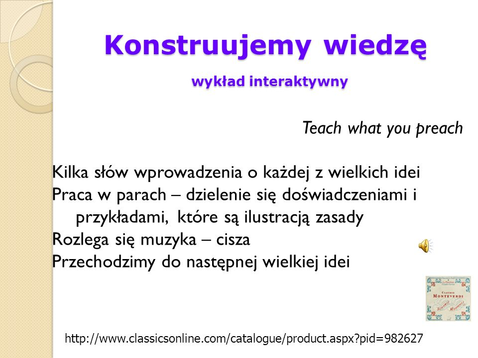 Konstruujemy wiedzę wykład interaktywny