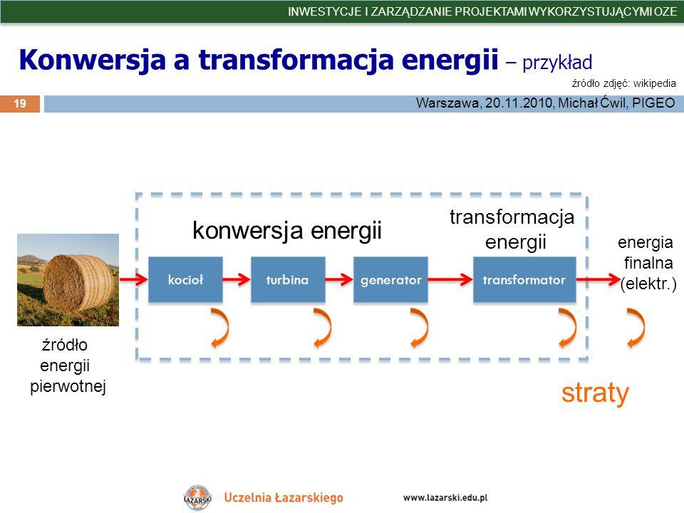 Konwersja a transformacja energii – przykład