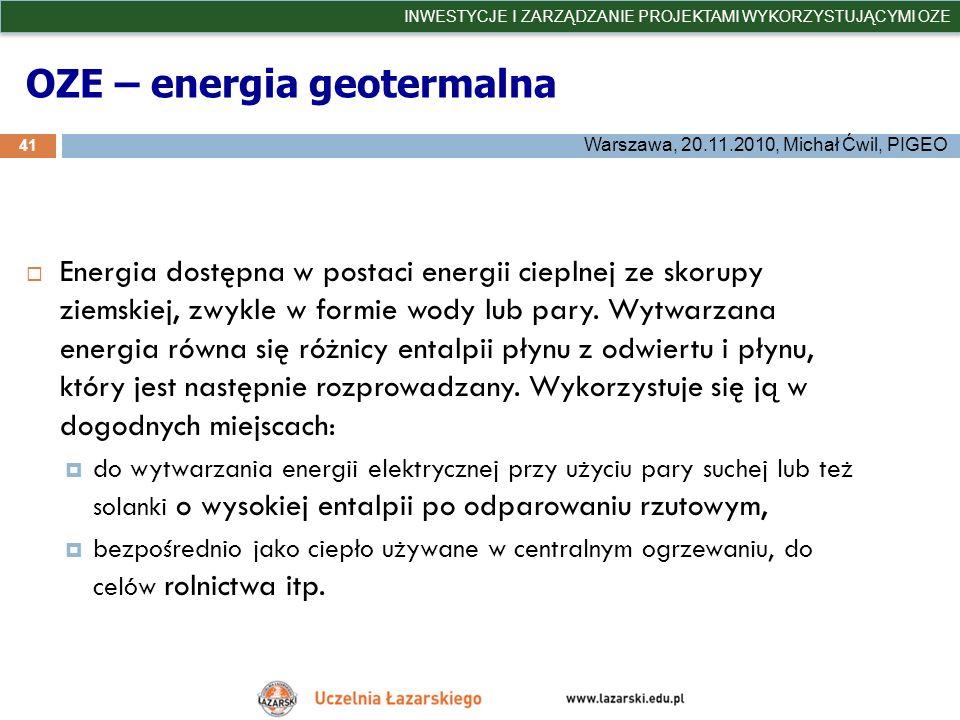 OZE – energia geotermalna
