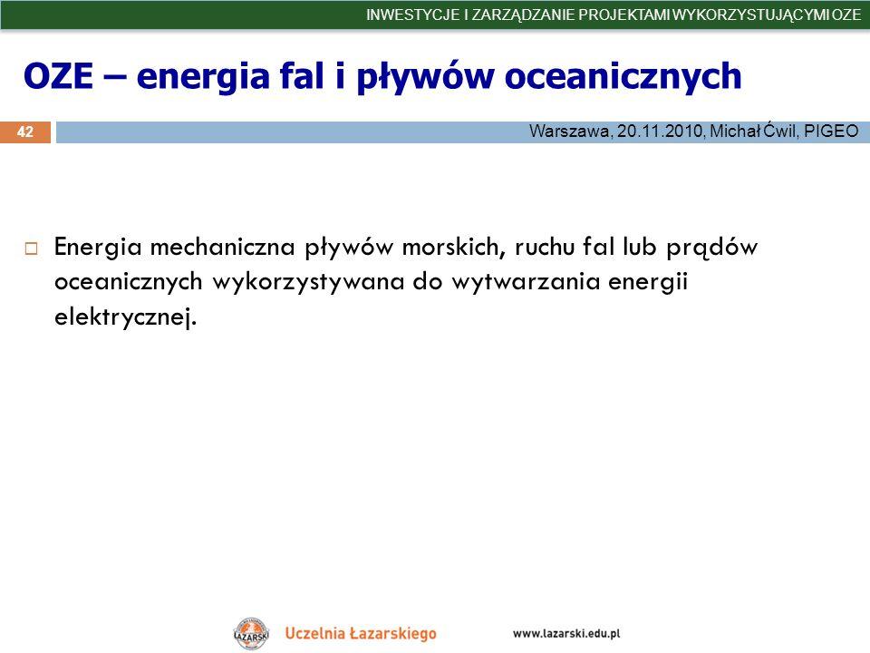 OZE – energia fal i pływów oceanicznych