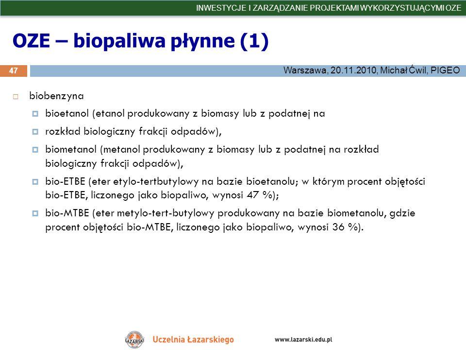 OZE – biopaliwa płynne (1)