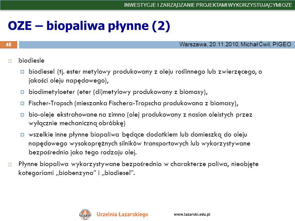 OZE – biopaliwa płynne (2)
