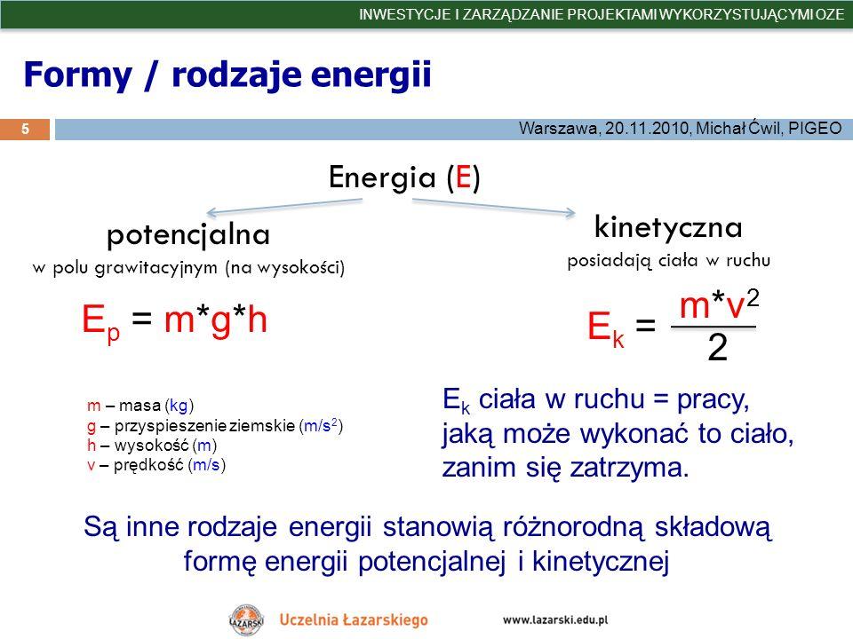 Formy / rodzaje energii