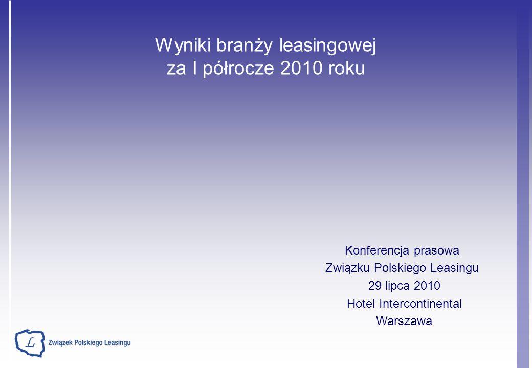 Wyniki branży leasingowej za I półrocze 2010 roku