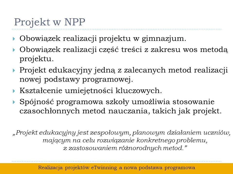 Realizacja projektów eTwinning a nowa podstawa programowa