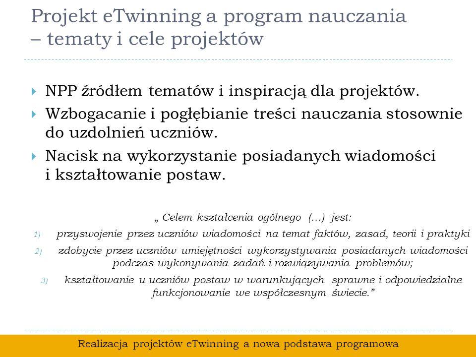 Projekt eTwinning a program nauczania – tematy i cele projektów