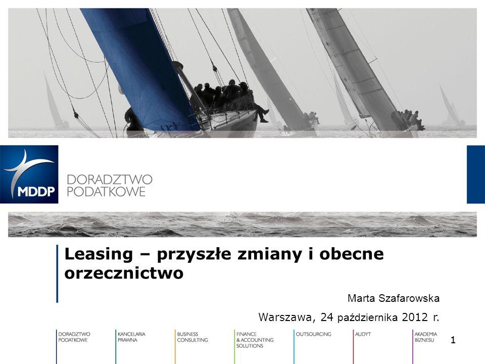 Leasing – przyszłe zmiany i obecne orzecznictwo