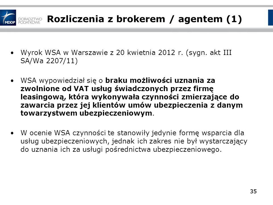 Rozliczenia z brokerem / agentem (1)