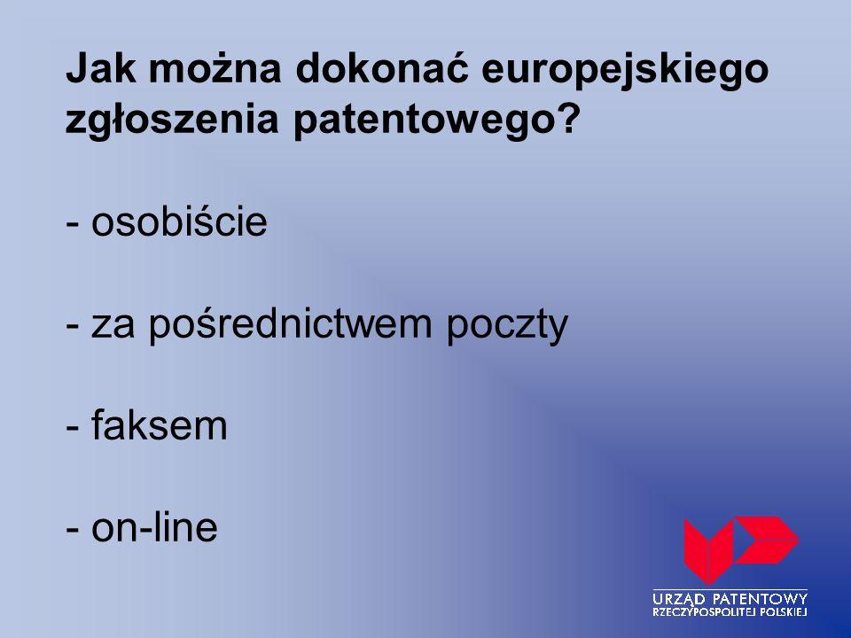Jak można dokonać europejskiego zgłoszenia patentowego