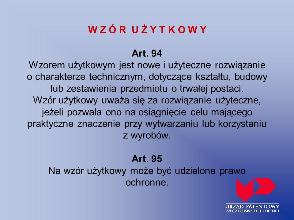 W Z Ó R U Ż Y T K O W Y Art.