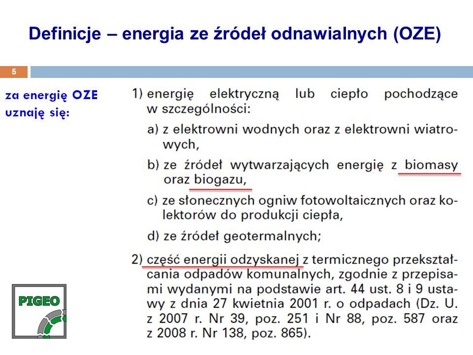 Definicje – energia ze źródeł odnawialnych (OZE)